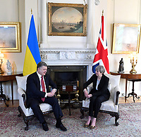 19 April 2017 - London, England - British Prime Minister Theresa May during a meeting with President Petro Poroshenko of Ukraine inside Number 10 Downing Street. Photo Credit: Alpha Press/AdMedia