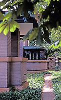 F.L. Wright: Dana House. Rear.  Photo '78.