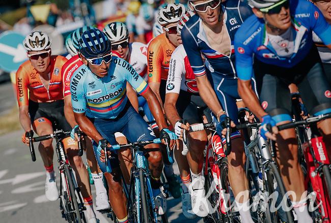 Nairo Quintana (COL/Movistar)<br /> <br /> MEN ELITE ROAD RACE<br /> Kufstein to Innsbruck: 258.5 km<br /> <br /> UCI 2018 Road World Championships<br /> Innsbruck - Tirol / Austria