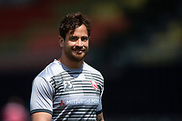 Danny Cipriani of Gloucester Rugby looks on during the pre-match warm-up. Gallagher Premiership Semi Final, between Saracens and Gloucester Rugby on May 25, 2019 at Allianz Park in London, England. Photo by: Patrick Khachfe / JMP