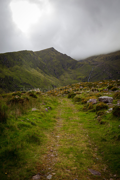 Hiking in Abha Mhor valley, Cloghane, Kerry, Ireland
