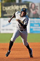 Calvin Anderson of the Bradenton Marauders during the game at Jackie Robinson Ballpark in Daytona Beach, Florida on August 2, 2010. Photo By Scott Jontes/Four Seam Images
