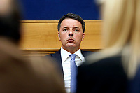 Matteo Renzi <br /> Rome April 4th 2019. Press conference of Democratic Party about the bus accident happened 3 years ago in Freginals, Spain in which 7 Italian girls lost their lives, to press the Italian Government to ask for justice to the Spanish authorities.<br /> photo di Samantha Zucchi/Insidefoto