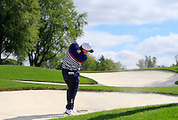 Patrick Reed US Team plays from a fairway bunker on the 11th hole during Thursday's Practice Day of the 41st RyderCup held at Hazeltine National Golf Club, Chaska, Minnesota, USA. 29th September 2016.<br /> Picture: Eoin Clarke | Golffile<br /> <br /> <br /> All photos usage must carry mandatory copyright credit (&copy; Golffile | Eoin Clarke)