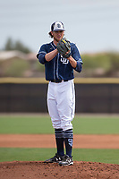 San Diego Padres starting pitcher Chris Paddack (57) during a Minor League Spring Training game against the Seattle Mariners at Peoria Sports Complex on March 24, 2018 in Peoria, Arizona. (Zachary Lucy/Four Seam Images)