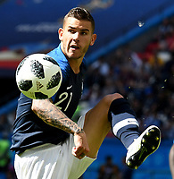 KAZAN - RUSIA, 16-06-2018: Lucas HERNANDEZ, jugador de Francia, en acción durante el partido de la primera fase, Grupo C, en Kazan Arena, Kazán, entre Francia y Australia por la Copa Mundo FIFA 2018 Rusia. / Lucas HERNANDEZ, player of France, in action during match of the first stage - Group C, Kazan Arena in Kazan, between France and Australia as part of the 2018 FIFA World Cup Russia. Photo: VizzorImage / Julian Medina / Cont