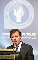 "**** NO FEE PIC***.12/04/2012 .Alan Shatter TD, Minister for Justice, Equality and Defence.during a conference on the ""The EU Directive on Victims Rights: Opportunities and Challenges for Ireland"" hosted by the the Irish Council for Civil Liberties (ICCL) in Dublin Castle..Photo: Gareth Chaney Collins"