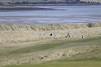 looking for a ball during the first round of matchplay at the 2018 West of Ireland, in Co Sligo Golf Club, Rosses Point, Sligo, Co Sligo, Ireland. 01/04/2018.<br /> Picture: Golffile | Fran Caffrey<br /> <br /> <br /> All photo usage must carry mandatory copyright credit (&copy; Golffile | Fran Caffrey)