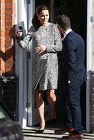 Catherine, Duchess of Cambridge (Kate Middleton) visits the Turner Contemporary Gallery and Resort Studios in Margate<br /> Margate, England. 11/03/2015 Picture by: James Smith / Featureflash