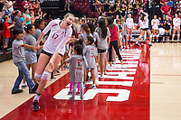 STANFORD, CA - August 28, 2016: Merete Lutz at Maples Pavilion. The Stanford Cardinal defeated the University of Minnesota 3-1.