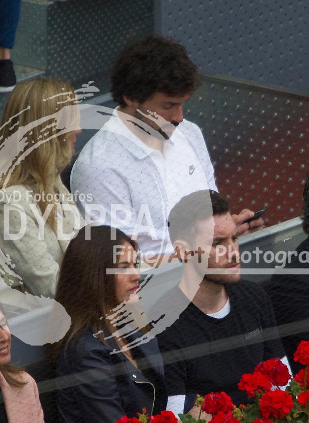 Up:Sergio Llull (R) and his girlfriend Almudena (L)<br /> Down: Helen Lindes (L), Rudy Fernandez (R)