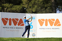 Connor Syme (SCO) on the 6th tee during Round 1 of the Challenge Tour Grand Final 2019 at Club de Golf Alcanada, Port d'Alcúdia, Mallorca, Spain on Thursday 7th November 2019.<br /> Picture:  Thos Caffrey / Golffile<br /> <br /> All photo usage must carry mandatory copyright credit (© Golffile | Thos Caffrey)