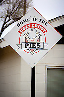 Home of the Ugly Crust Pies, the Midpoint Cafe in Adrian Texas sits at the halfway point on Route 66.