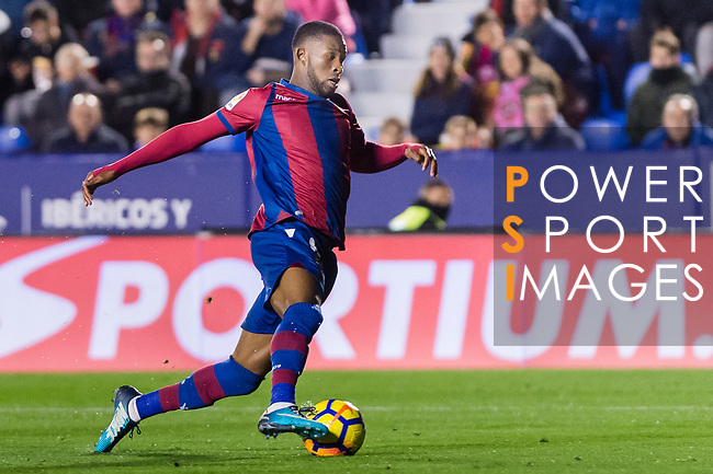 Jefferson Lerma of Levante UD in action during the La Liga 2017-18 match between Levante UD and Real Madrid at Estadio Ciutat de Valencia on 03 February 2018 in Valencia, Spain. Photo by Maria Jose Segovia Carmona / Power Sport Images