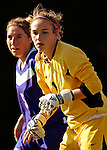 31 August 2007: University of Central Arkansas Sugar Bears' goalkeeper Heather Joye (1), a Junior from Salt Lake City, Utah, in action against the University of Vermont Catamounts at Historic Centennial Field in Burlington, Vermont. The Catamounts defeated the Sugar Bears 1-0 during the TD Banknorth Soccer Classic...Mandatory Photo Credit: Ed Wolfstein Photo
