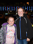 Jaeda and Keillen O'Connor pictured at the fireworks display at Scotch Hall sponsored by Funtasia. Photo:Colin Bell/pressphotos.ie