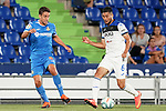 Getafe CF's Jaime Mata (l) and Atalanta BC's Jose Luis Palomino during friendly match. August 10,2019. (ALTERPHOTOS/Acero)