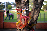A roadside memorial at Scots College in Wellington, New Zealand on Saturday, 26 May 2018. Photo: Dave Lintott / lintottphoto.co.nz