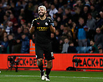 Sergio Aguero of Manchester City celebrates scoring his third and City's sixth during the Premier League match at Villa Park, Birmingham. Picture date: 12th January 2020. Picture credit should read: Darren Staples/Sportimage