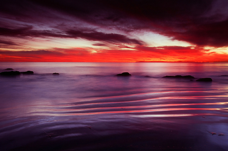 Ripples, Crystal Cove State Park, Ca. 35mm Image made on Fuji Velvia 100 film.