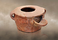 Neolithic Cretian portable clay oven open kiln fired at Knossos,  4500-3000 BC, Heraklion Archaeological  Museum.