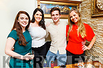 Katie Liston, Maeve Galvin, Daniel Browne and Katie O'Riordan enjoying the evening out in Bella Bia on Saturday