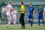 GER - Mannheim, Germany, April 15: During the field hockey 1. Bundesliga match between Mannheimer HC (blue) and Rot-Weiss Koeln (white) on April 15, 2018 at Am Neckarkanal in Mannheim, Germany. Final score 2-2. (Photo by Dirk Markgraf / www.265-images.com) *** Local caption *** Tom Grambusch #15 of Rot-Weiss Koeln