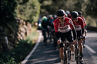 Jasper de Buyst (BEL/Lotto-Soudal) putting in a great effort as Team Lotto-Soudal takes control over the race to position defending champion Tim Wellens ideally for the finale of the race<br /> <br /> Trofeo Lloseta - Andratx: 140km<br /> 27th Challenge Ciclista Mallorca 2018