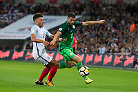 Slovenia's Bojan Jokic vies for possession with England's Alex Oxlade-Chamberlain <br /> <br /> Photographer Craig Mercer/CameraSport<br /> <br /> FIFA World Cup Qualifying - European Region - Group F - England v Solvenia - Thursday 5th October 2017 - Wembley Stadium - London<br /> <br /> World Copyright &copy; 2017 CameraSport. All rights reserved. 43 Linden Ave. Countesthorpe. Leicester. England. LE8 5PG - Tel: +44 (0) 116 277 4147 - admin@camerasport.com - www.camerasport.com