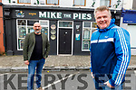 Aiden O'Connor of Mike the Pies in Listowel ready to launch the music CD song Lean on Me as the fundraiser Music4Medicine and the proceeds will go to Aras Mhuire Nursing Home in Listowel and other nursing homes and care facilities to fund PPE equipment. Front right: Aiden O'Connor and in the back is Michael O'Gorman.