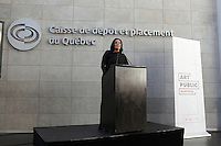 Manon Gauthier<br />  attend the Official  annoncement of a new partnerrship to showcase over 1000 public art in Montreal<br /> l, October 8, 2015.<br /> <br /> PHOTO : Pierre Roussel - Agence Quebec Presse