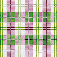 Hamish, a hand-cut jewel glass mosaic, shown in Verdite, Peridot, Rose Quartz, Champagne, Rhodolite, and Absolute White.