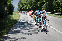 Team AG2R-La Mondiale taking control at the front in the run-up to the Mont du Chat (1504m/8.7km/10.3%)<br /> <br /> Stage 6: Le parc des oiseaux/Villars-Les-Dombes &rsaquo; La Motte-Servolex (147km)<br /> 69th Crit&eacute;rium du Dauphin&eacute; 2017
