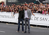 Actors Hugo Silva (L) and Mario Casas arrives to Maria Cristina hotel, posses and signs autographs during the 61 San Sebastian Film Festival, in San Sebastian, Spain. September 21, 2013. (ALTERPHOTOS/Victor Blanco) /NortePhoto