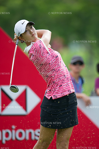 Michelle Wie (USA),.MARCH 3, 2013 - Golf :.Michelle Wie of United States tees off on 11th hole during the final round of the HSBC Women's Champions at Sentosa Golf Club in Singapore. (Photo by Haruhiko Otsuka/AFLO)