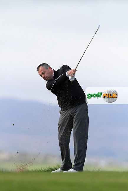 Pat Murray (Limerick) during round 1 of The West of Ireland Amateur Open in Co. Sligo Golf Club on Friday 18th April 2014.<br /> Picture:  Thos Caffrey / www.golffile.ie