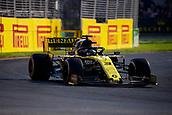 17th March 2019, Melbourne Grand Prix Circuit, Melbourne, Australia; Melbourne Formula One Grand Prix, race day; The number 3 Renault driver Daniel Ricciardo during the race