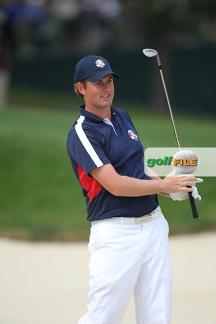Webb Simpson during the practice day Thursday at the Ryder Cup 2012, Medinah Country Club,Medinah, Illinois,USA 27/09/2012.Picture: Fran Caffrey/www.Golffile.ie.