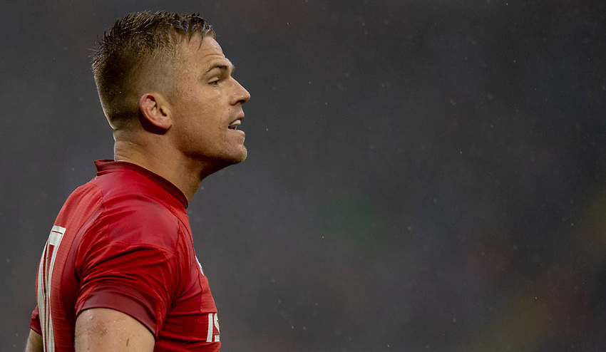 Wales' Gareth Anscombe<br /> <br /> Photographer Bob Bradford/CameraSport<br /> <br /> Guinness Six Nations Championship - Wales v Ireland - Saturday 16th March 2019 - Principality Stadium - Cardiff<br /> <br /> World Copyright © 2019 CameraSport. All rights reserved. 43 Linden Ave. Countesthorpe. Leicester. England. LE8 5PG - Tel: +44 (0) 116 277 4147 - admin@camerasport.com - www.camerasport.com