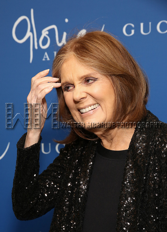 """Gloria Steinem attends the Opening Night Performance of """"Gloria: A Life"""" on October 18, 2018 at the Daryl Roth Theatre in New York City."""