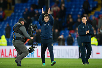 Tottenham Hotspur manager Mauricio Pochettino applauds the fans      <br /> <br /> <br /> Photographer Craig Mercer/CameraSport<br /> <br /> The Premier League - Crystal Palace v Tottenham Hotspur - Wednesday 26th April 2017 - Selhurst Park - London<br /> <br /> World Copyright &copy; 2017 CameraSport. All rights reserved. 43 Linden Ave. Countesthorpe. Leicester. England. LE8 5PG - Tel: +44 (0) 116 277 4147 - admin@camerasport.com - www.camerasport.com