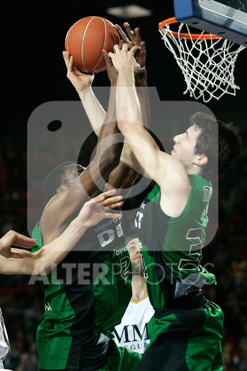 Juventud's Mario Fernandez during Spanish Basketball King's Cup match.(ALTERPHOTOS/Acero)