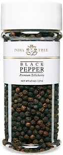 10101 Tellicherry Pepper, Tall Jar 4.5 oz, India Tree Storefront