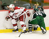 Danny Biega (Harvard - 9), Joe Gaudet (Dartmouth - 19) - The Harvard University Crimson defeated the Dartmouth College Big Green 4-1 (EN) on Monday, January 18, 2010, at Bright Hockey Center in Cambridge, Massachusetts.