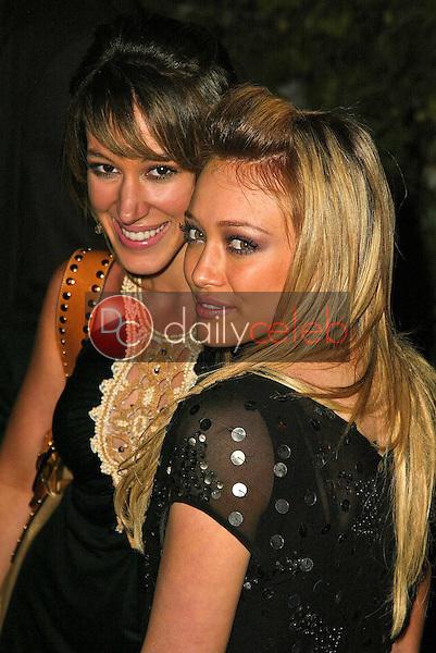Haylie Duff and Hilary Duff