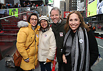 Stephen Bogardus and Andrea Burns  Along with Actors' Equity members talk to Broadway audiences about why they are fighting for a better development contract with the Broadway League after the Union announced Monday a strike for all development work with the Broadway League. TKTS Booth, Duffy Square Neil January 8, 2019 in New York City.
