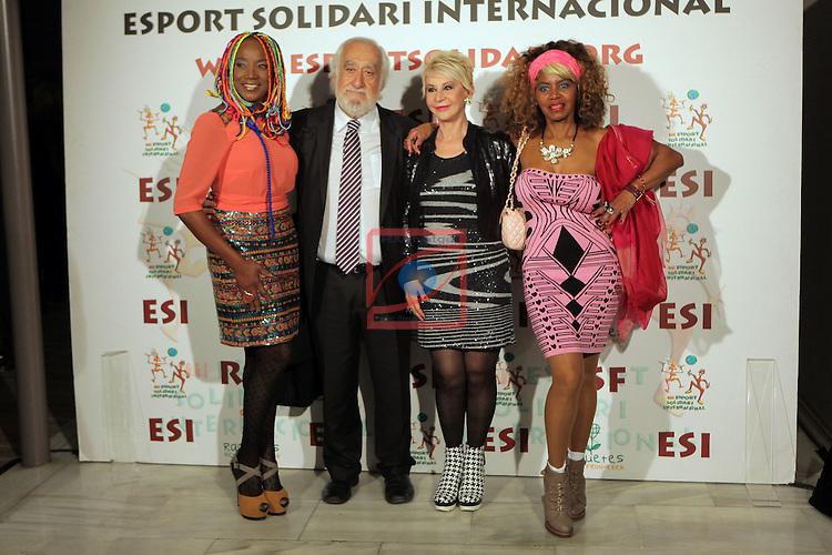 XIe Sopar Solidari d'ESI (Esport Solidari Internacional).<br /> Josep Maldonado, Lucrecia, Karmele Marchante &amp; Regina Do Santos.