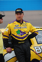 Apr 16, 2009; Avondale, AZ, USA; NASCAR Camping World Series West driver Mike David prior to the Jimmie Johnson Foundation 150 at Phoenix International Raceway. Mandatory Credit: Mark J. Rebilas-