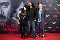 Spanish actress Penelope Cruz, director of the film Fernando Leon de Aranoa and spanish actor Javier Bardem attends to presentation of film 'Loving Pablo' in Madrid , Spain. March 06, 2018. (ALTERPHOTOS/Borja B.Hojas) / NortePhoto.com NORTEPHOTOMEXICO