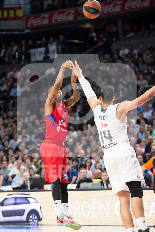 CSKA Moscu's player Jackson and Real Madrid's player Gustavo Ayon during the match between Real Madrid and CSKA Moscu of Turkish Airlines Euroleague at Barclaycard Center in Madrid, March 02, 2016. (ALTERPHOTOS/BorjaB.Hojas) during the match between Real Madrid and CSKA Moscu of Turkish Airlines Euroleague at Barclaycard Center in Madrid, March 02, 2016. (ALTERPHOTOS/BorjaB.Hojas) and Real Madrid's players Maciulis and Gustavo Ayon during the match between Real Madrid and CSKA Moscu of Turkish Airlines Euroleague at Barclaycard Center in Madrid, March 02, 2016. (ALTERPHOTOS/BorjaB.Hojas) during the match between Real Madrid and CSKA Moscu of Turkish Airlines Euroleague at Barclaycard Center in Madrid, March 02, 2016. (ALTERPHOTOS/BorjaB.Hojas)
